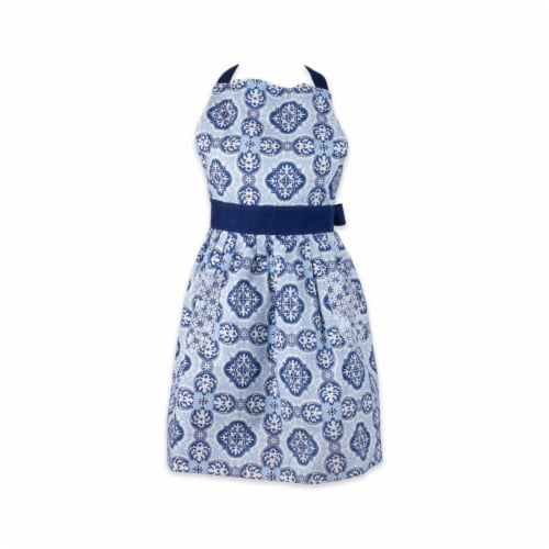 DII Chef Printed Apron, One Size Fits Most, Lagos, 1 Piece Perspective: front