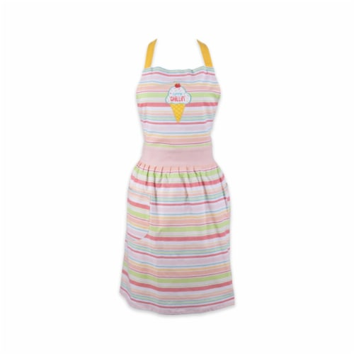 Design Imports CAMZ11627 Summer Chillin Printed Apron Perspective: front