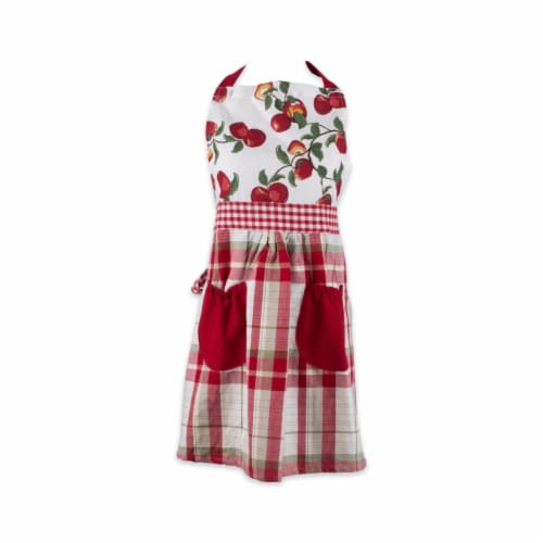 Design Imports Apple Orchard Print Apron Perspective: front