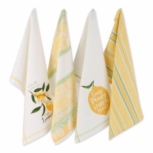 """Dii Lemon Bliss Kitchen Textiles, 18X28"""", Lemon Bliss, 4 Pieces Perspective: front"""