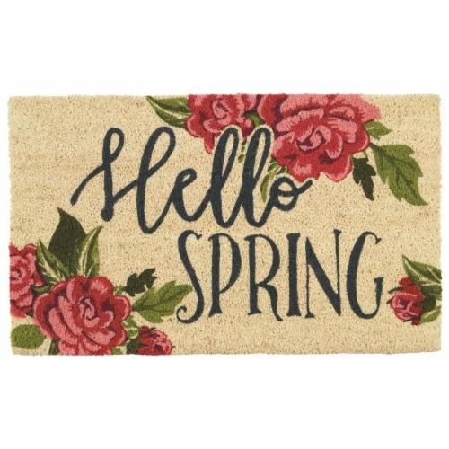 DII Hellow Spring Doormat Perspective: front