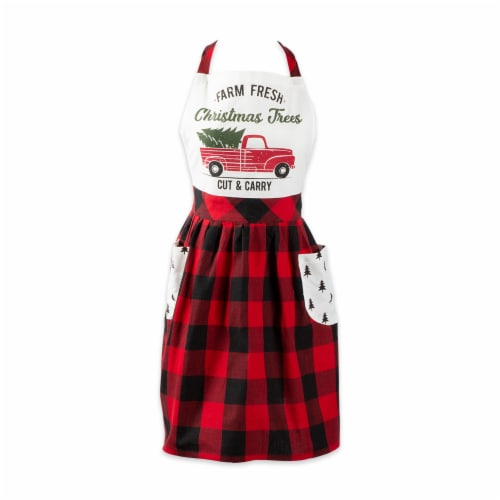 DII Christmas Truck Apron Perspective: front