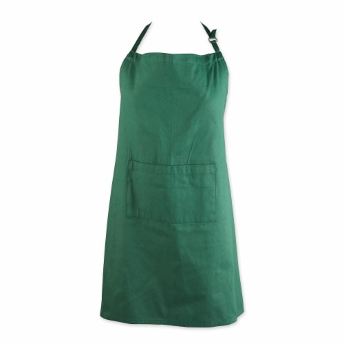 DII Dark Green XL Chef Apron Perspective: front