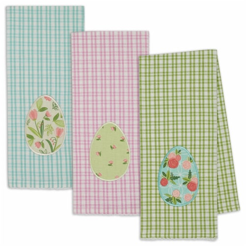 Dii Easter Eggs Dishtowel Set, 18X28 Inch, 3 Piece Perspective: front