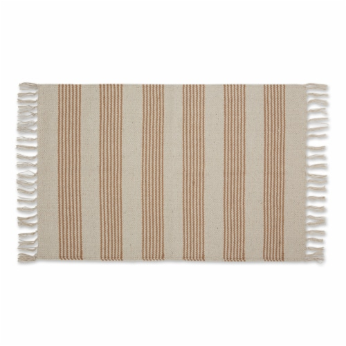 Dii Stone Ticking Stripe Hand-Loomed Rug 2X3 Ft Perspective: front