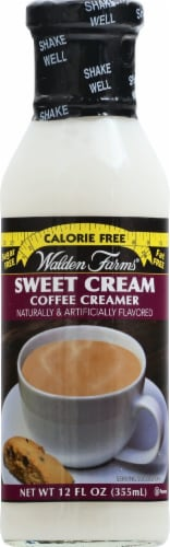 Walden Farms Sweet Cream Calorie Free Coffee Creamer Perspective: front