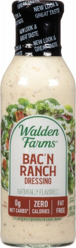 Walden Farms Bacon Ranch Salad Dressing Perspective: front