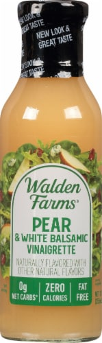 Walden Farms Calorie Free Pear & White Balsamic Vinaigrette Perspective: front