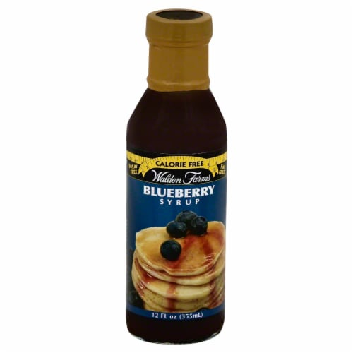 Walden Farms Calorie Free Blueberry Syrup Perspective: front
