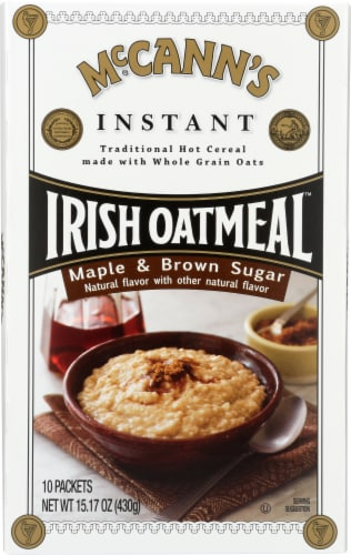 Mccann's Instant Maple & Brown Sugar Oatmeal Perspective: front