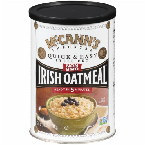 McCann's Quick & Easy Steel Cut Irish Oatmeal Perspective: front