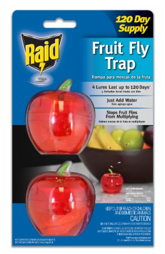 Raid® Apple Fruit Fly Traps - Red Perspective: front