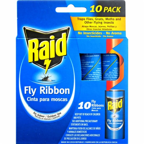 Raid Unscented Fly Ribbons - 10 Pack Perspective: front