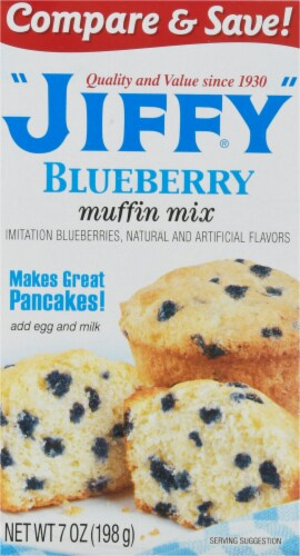 Jiffy Blueberry Muffin Mix Perspective: front