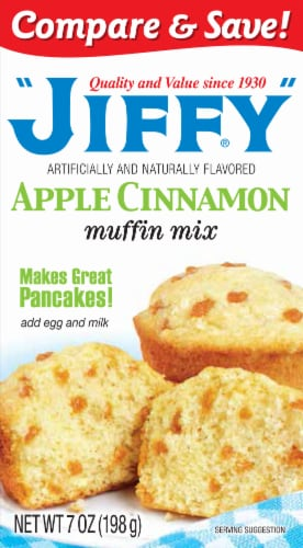 Jiffy Apple Cinnamon Muffin Mix Perspective: front