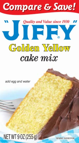 Jiffy Golden Yellow Cake Mix Perspective: front
