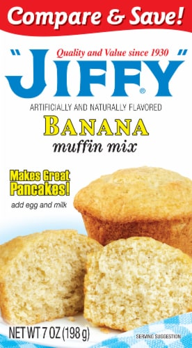 Jiffy Banana Muffin Mix Perspective: front