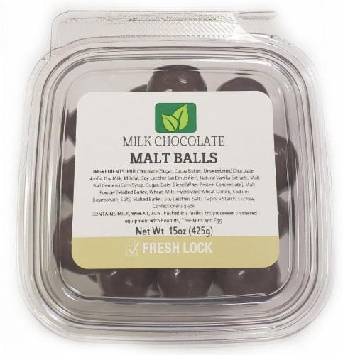 Torn & Glasser Milk Chocolate Malt Balls Perspective: front