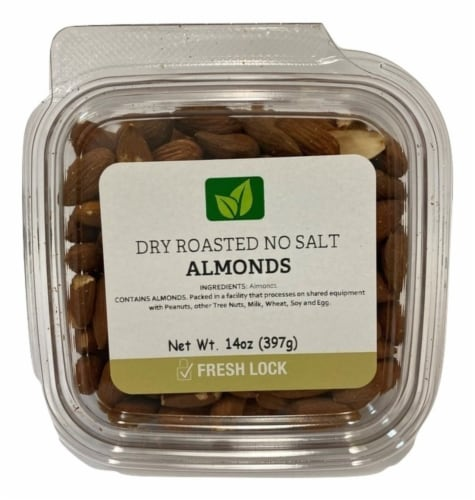 Torn & Glasser Dry Roasted No Salt Almonds Perspective: front