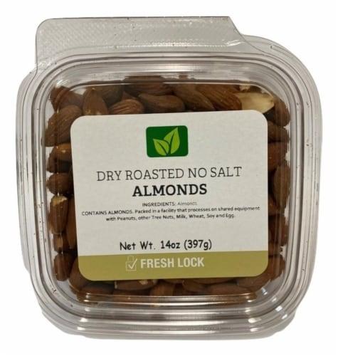 Torn & Glasser Dry Roasted No Salt Almonds Perspective: front