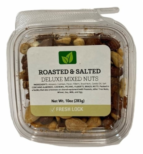 Torn & Glasser Roasted & Salted Deluxe Mixed Nuts Perspective: front