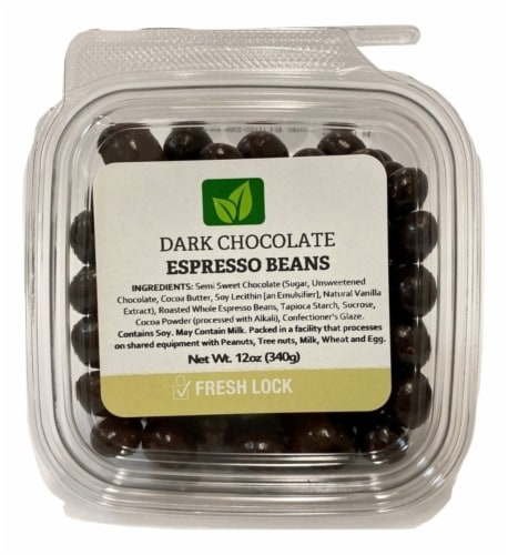 Torn & Glasser Dark Chocolate Espresso Beans Perspective: front