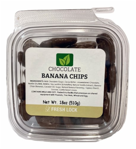 Torn & Glasser Chocolate Banana Chips Perspective: front