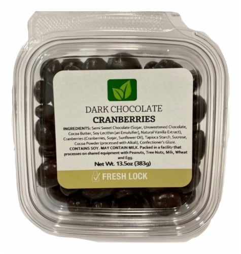 Torn & Glasser Dark Chocolate Cranberries Perspective: front