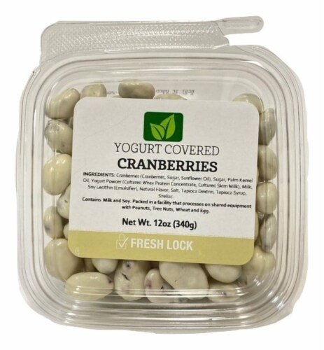 Torn & Glasser Yogurt Covered Cranberries Perspective: front