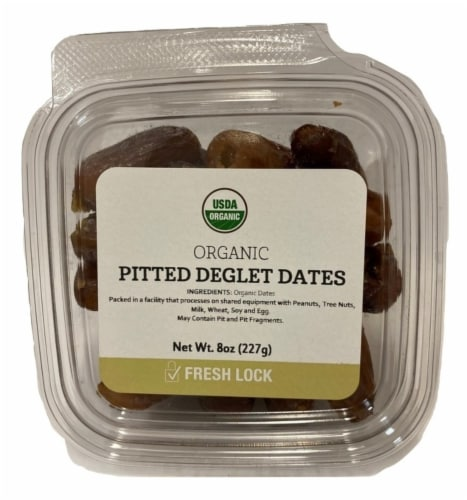 Torn & Glasser Organic Pitted Deglet Dates Perspective: front