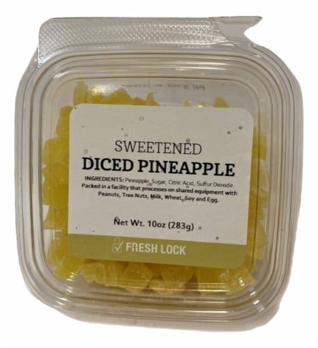 Torn & Glasser Diced Sweetened Pineapple Perspective: front