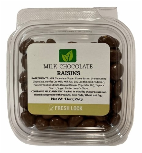 Torn & Glasser Milk Chocolate Raisins Perspective: front