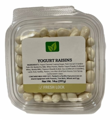 Torn & Glasser Yogurt Raisins Perspective: front