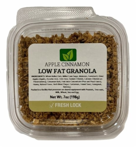 Torn & Glasser Apple Cinnamon Low Fat Granola Perspective: front