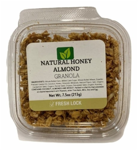 Torn & Glasser Natural Honey Almond Granola Perspective: front