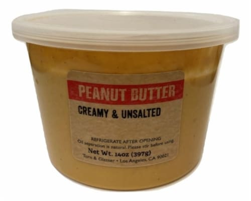 Torn & Glasser Creamy & Unsalted Peanut Butter Perspective: front