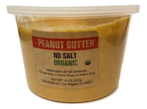 Torn & Glasser Organic Peanut Butter Perspective: front