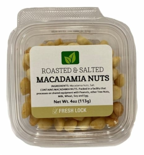 Torn & Glasser Roasted & Salted Macadamia Nuts Perspective: front