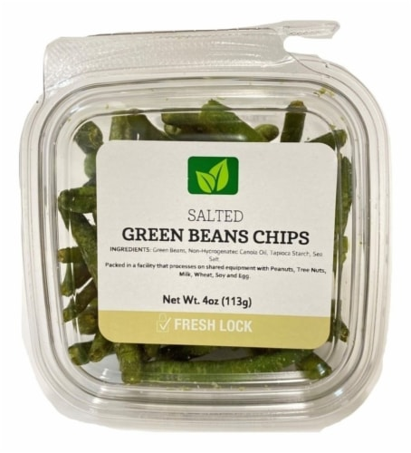 Salted Green Bean Chips Perspective: front