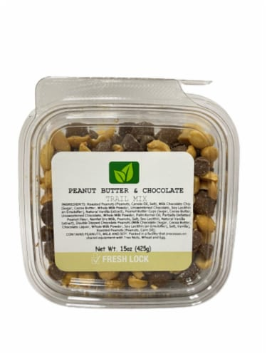 Torn & Glasser Peanut Butter and Chocolate Trail Mix Perspective: front