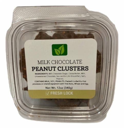 Torn & Glasser Milk Chocolate Peanut Clusters Perspective: front