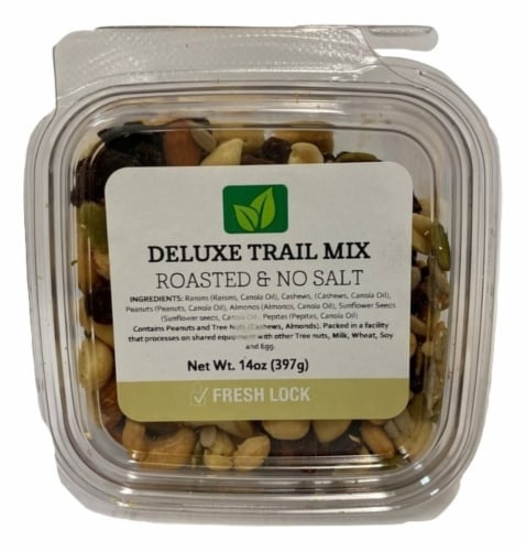 Torn & Glasser Deluxe Roasted & No Salt Trail Mix Perspective: front