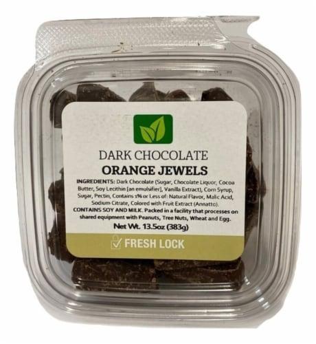 Torn & Glasser Dark Chocolate Orange Jewels Perspective: front