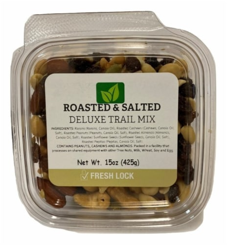 Torn & Glasser Roasted & Salted Deluxe Trail Mix Perspective: front