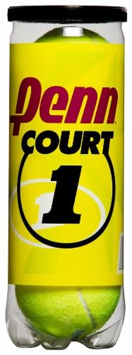 Penn Court Tennis Balls - 3 Pack - Yellow Perspective: front