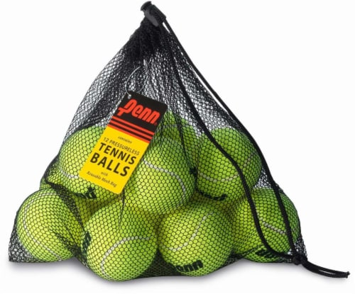 Penn Pressureless Tennis Balls & Mesh Bags - Yellow Perspective: front