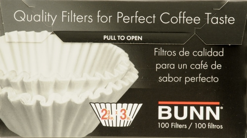 Bunn White Coffee & Tea Filters Perspective: front