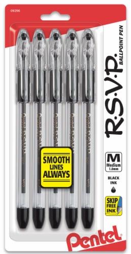 Pentel R.S.V.P. Black Ink Medium Ballpoint Pens Perspective: front