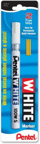 Pentel Fine Tip Permanent Marker - White Perspective: front