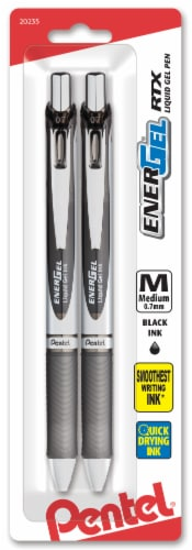 Pentel EnerGel RTX Liquid Gel Pens - Black Perspective: front